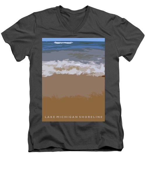 Lake Michigan Shoreline Men's V-Neck T-Shirt