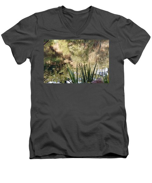 Men's V-Neck T-Shirt featuring the photograph Lake Reflections by Kate Brown