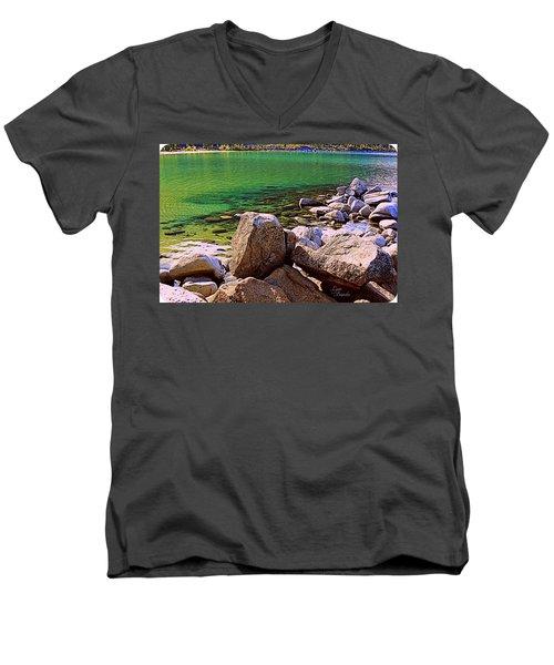 Lake Tahoe Green Men's V-Neck T-Shirt