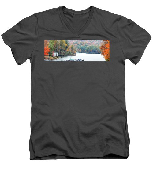 Lake Toxaway In The Fall Men's V-Neck T-Shirt