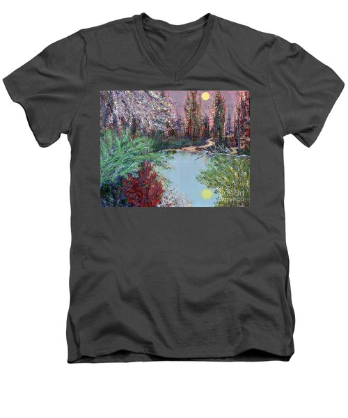 Lake Tranquility Men's V-Neck T-Shirt