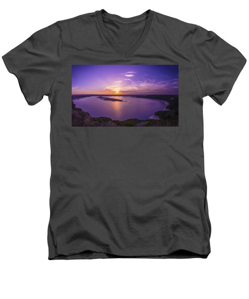 Lake Travis Sunset Men's V-Neck T-Shirt