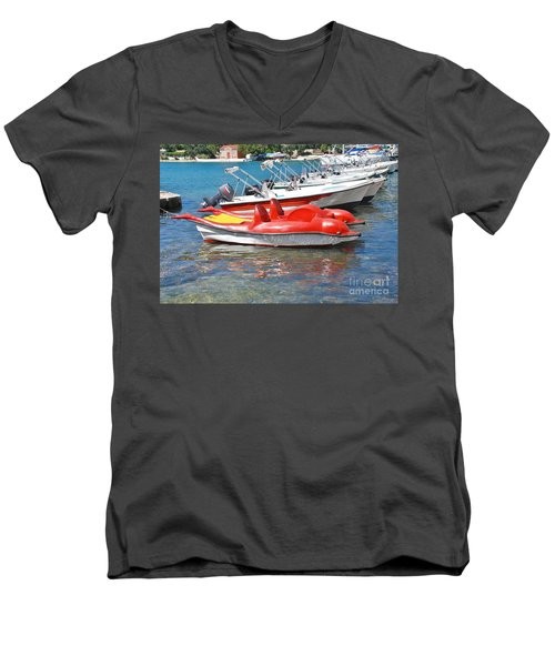 Lakka Harbour Paxos Men's V-Neck T-Shirt