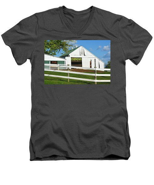 Lancaster County Tobacco Barn Men's V-Neck T-Shirt