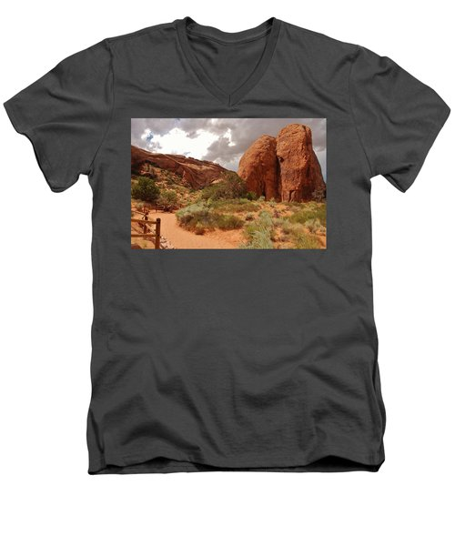 Landscape Arch - Utah Men's V-Neck T-Shirt