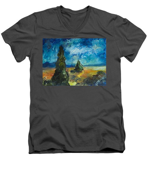 Emerald Spires Men's V-Neck T-Shirt