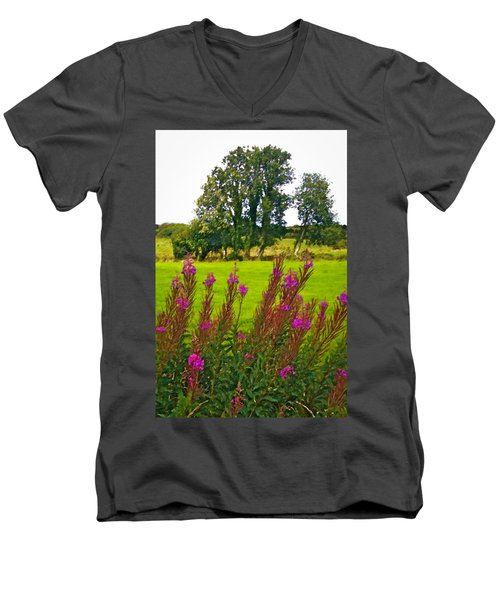Lanna Fireweeds County Clare Ireland Men's V-Neck T-Shirt