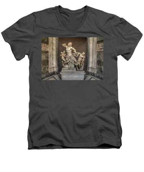 Laocoon And His Sons Men's V-Neck T-Shirt