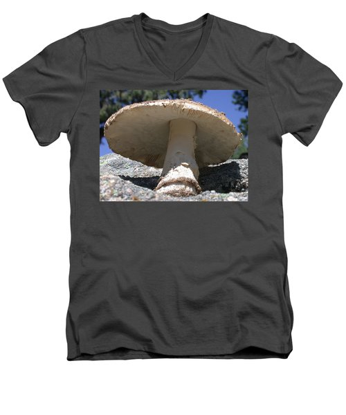 Large Mushroom Men's V-Neck T-Shirt