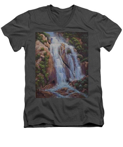 Las Brisas Falls Huatuco Mexico Men's V-Neck T-Shirt