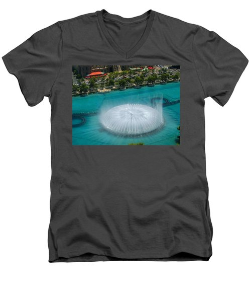 Men's V-Neck T-Shirt featuring the photograph Las Vegas Orb by Angela J Wright