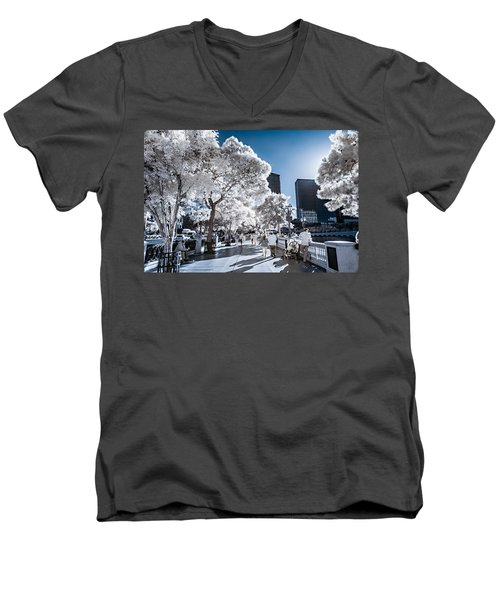 Las Vegas Strip In Infrared 1 Men's V-Neck T-Shirt