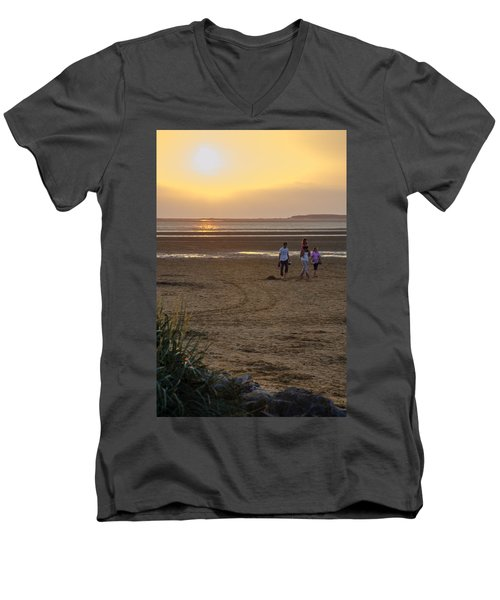 Last Colourful Days Of Summer Men's V-Neck T-Shirt