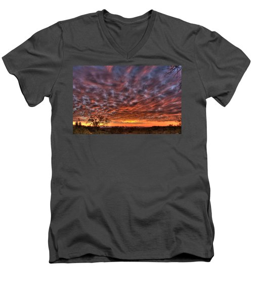 Last Light In Oracle Men's V-Neck T-Shirt by Tam Ryan