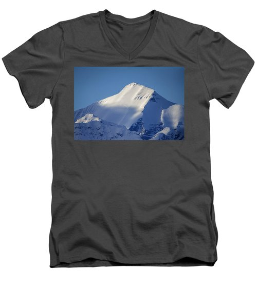 Men's V-Neck T-Shirt featuring the photograph Last Light Of The Day by Jack Bell