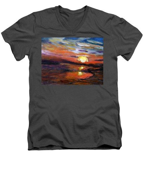 Last Sun Of Day Men's V-Neck T-Shirt