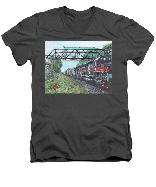 Last Train Under The Bridge Men's V-Neck T-Shirt