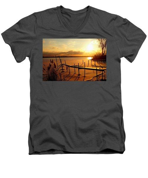 Last Winter ? Men's V-Neck T-Shirt by Daniel Thompson