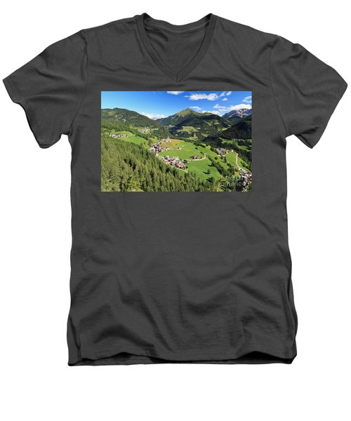 Laste - Val Cordevole Men's V-Neck T-Shirt by Antonio Scarpi