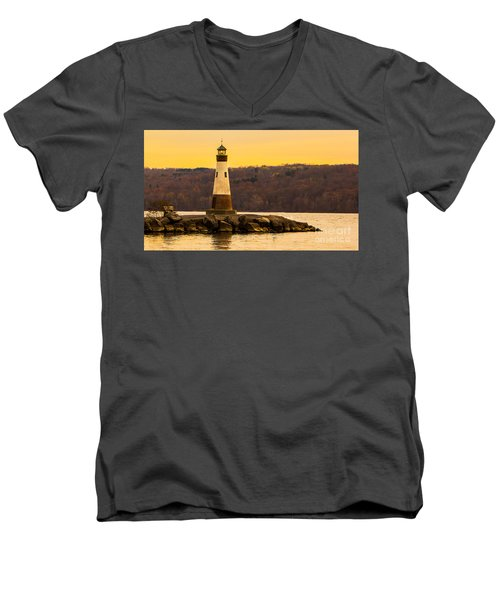 Late Fall Sunset At Myers Park Men's V-Neck T-Shirt