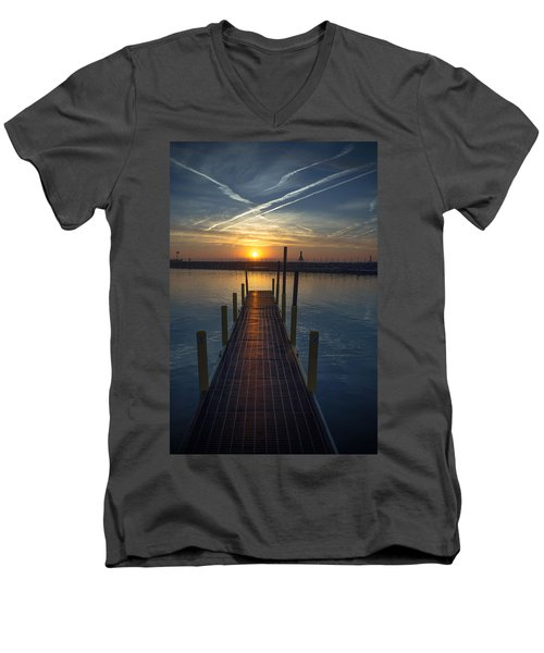 Launch A New Day Men's V-Neck T-Shirt