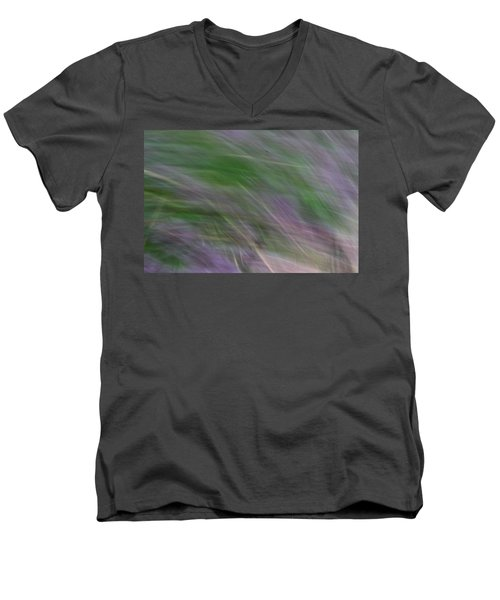 Lavendar Fields Men's V-Neck T-Shirt