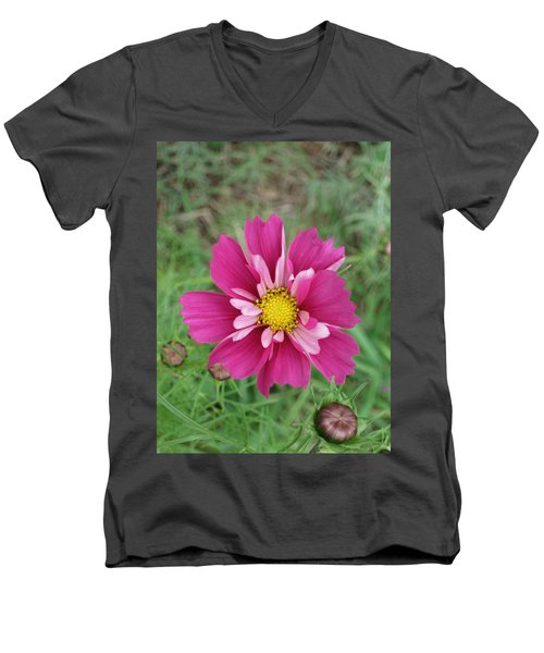 Lavender Cosmo Men's V-Neck T-Shirt