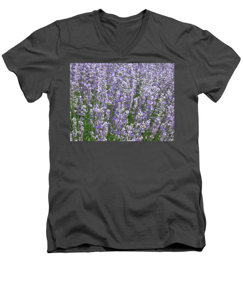 Men's V-Neck T-Shirt featuring the photograph Lavender Hues by Pema Hou