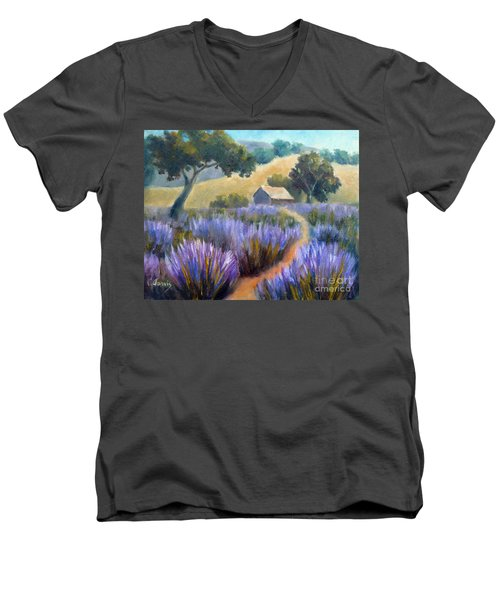 Lavender Path Men's V-Neck T-Shirt
