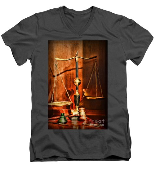 Lawyer - Scales Of Justice Men's V-Neck T-Shirt