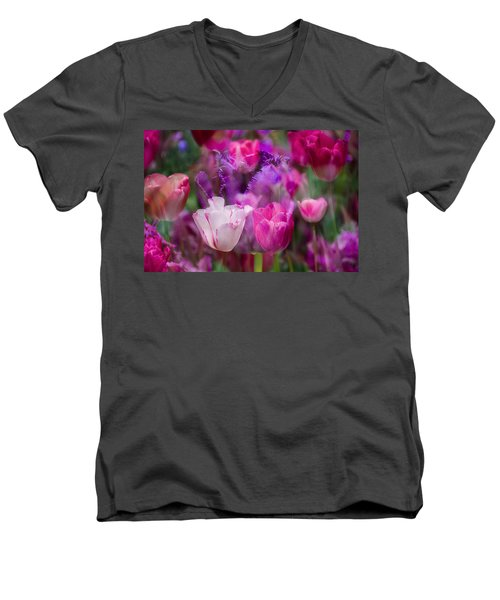 Layers Of Tulips Men's V-Neck T-Shirt