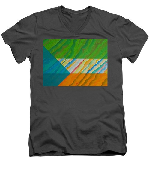 Layover Men's V-Neck T-Shirt by Michele Myers