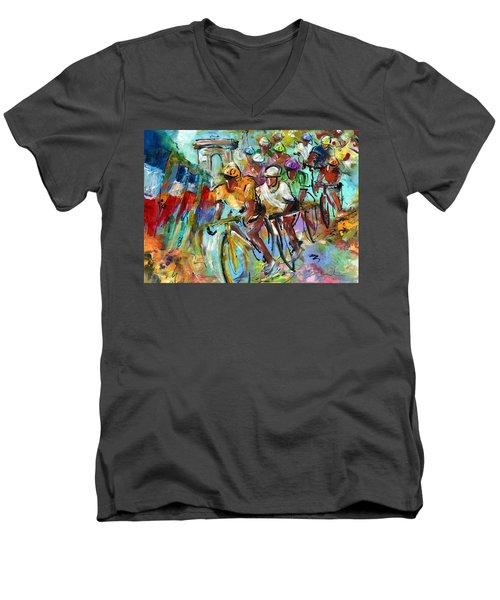 Le Tour De France Madness 02 Men's V-Neck T-Shirt