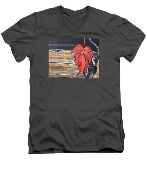 Leaf Shadow Men's V-Neck T-Shirt