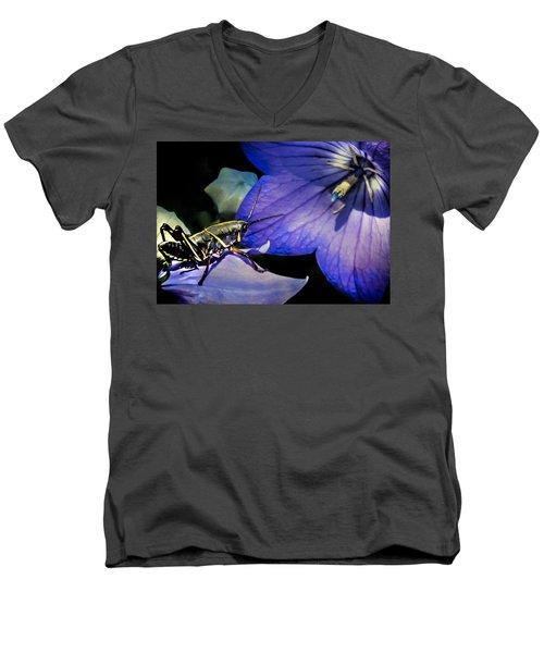 Contemplation Of A Pistil Men's V-Neck T-Shirt by Karen Wiles