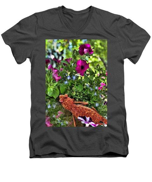 Leaping Lizards Men's V-Neck T-Shirt