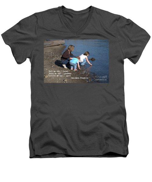 Learning Men's V-Neck T-Shirt