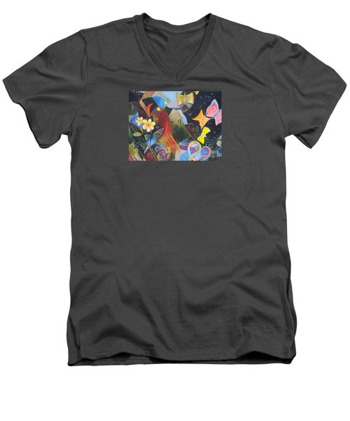 Learning To See Men's V-Neck T-Shirt by Helena Tiainen