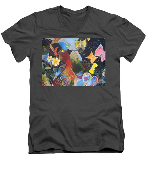 Learning To See Men's V-Neck T-Shirt