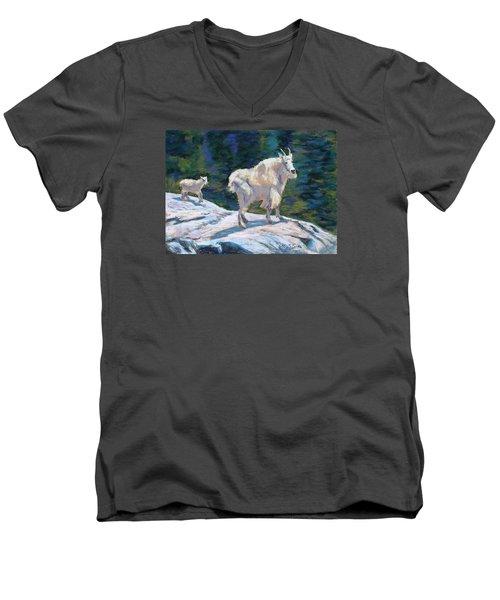 Learning To Walk On The Edge Men's V-Neck T-Shirt