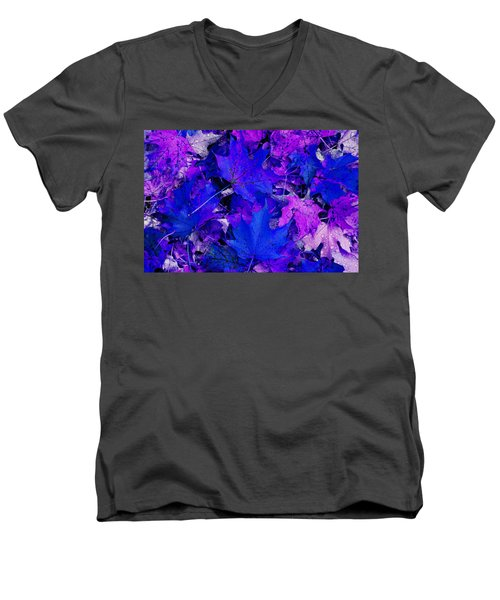 Men's V-Neck T-Shirt featuring the photograph Leaves by Aimee L Maher Photography and Art Visit ALMGallerydotcom
