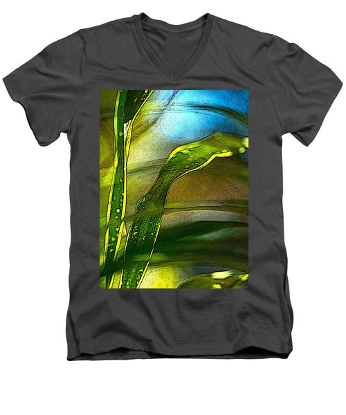 Leaves And Sky Men's V-Neck T-Shirt