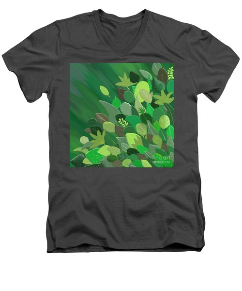 Leaves Are Awesome Men's V-Neck T-Shirt
