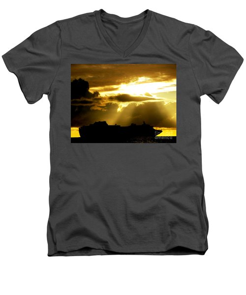 Men's V-Neck T-Shirt featuring the photograph Leaving Kona by David Lawson