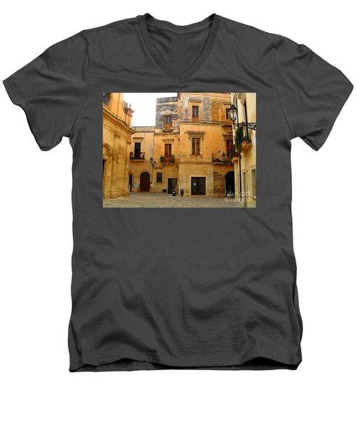 Lecce Stone Men's V-Neck T-Shirt