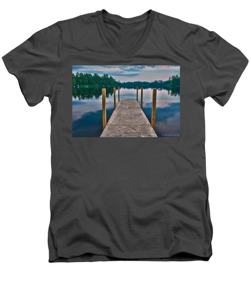 Lees Mills Dock Men's V-Neck T-Shirt