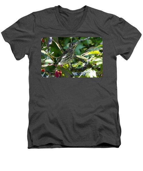 Left The Nest Men's V-Neck T-Shirt