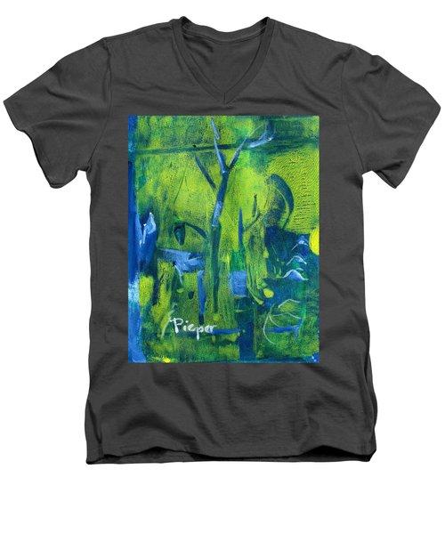 Lemon Willow Men's V-Neck T-Shirt
