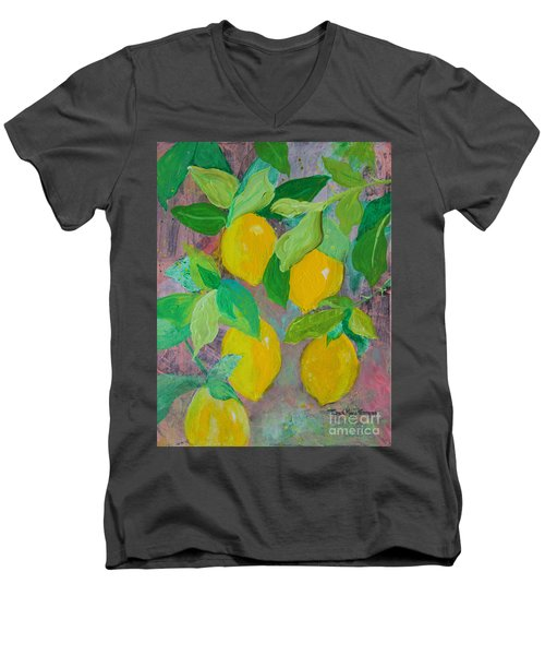 Lemons On Lemon Tree Men's V-Neck T-Shirt