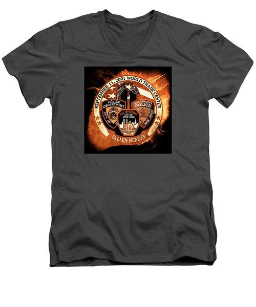 Least We Forget 3 Men's V-Neck T-Shirt